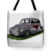 1940 Ford Custom Street Rod Tote Bag