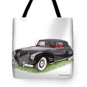 Lincoln Zephyr Cabriolet Tote Bag