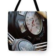 1938 Lincoln-zephyr Continental Cabriolet Steering Wheel Emblem -1817c Tote Bag