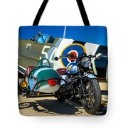 1940 Triumph And Supermarine Mk959 Spitfire  Tote Bag