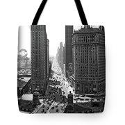 1940s Downtown Skyline Michigan Avenue Tote Bag