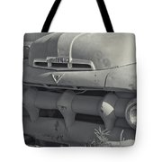 1940's Ford Truck Black And White Tote Bag