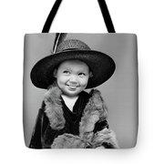 1940s Girl In Oversized Velvet Dress Tote Bag