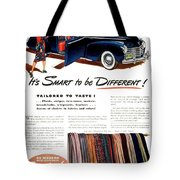 1941 - Chrysler Convertible Automobile Advertisement - Color Tote Bag