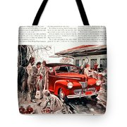 1941 - Ford Super Deluxe Automobile Advertisement - Color Tote Bag