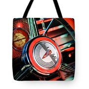 1941 Buick Eight Special Steering Wheel Emblem Tote Bag