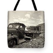 1941 Chevy Truck In Sepia Tote Bag
