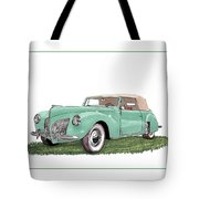 1941 Lincoln V-12 Continental Tote Bag