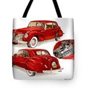 1941 V 12  Lincoln Continental Tote Bag
