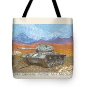 1941 W W I I Patton Tank Tote Bag
