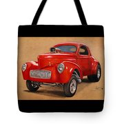 1941 Willys Gasser Coupe Drawing Tote Bag