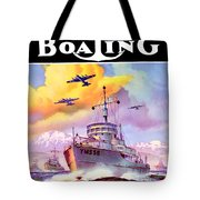 1942 - Motor Boating Magazine Cover - October - Color Tote Bag