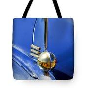 1942 Lincoln Zephyr 12 Hood Ornament Tote Bag
