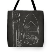 1943 Chris Craft Boat Patent Artwork - Gray Tote Bag
