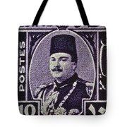 1944 King Farouk Egypt Stamp  Tote Bag