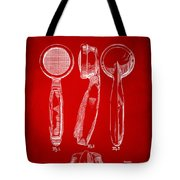 1944 Microphone Patent Red Tote Bag