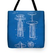 1944 Wine Corkscrew Patent Artwork - Blueprint Tote Bag