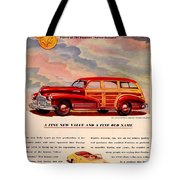 1946 - Pontiac Woodie Station Wagon And Convertible Advertisement - Color Tote Bag