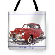 Ford Special Deluxe Coup E  From 1946  Tote Bag