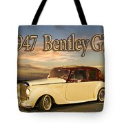 1947 Bentley Tote Bag