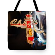 1947 Chrysler New Yorker Town And Country Convertible Emblem Tote Bag