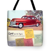 1947 - Desoto Automobile Advertisement - Color Tote Bag