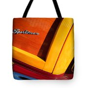 1947 Ford Super Deluxe Sportsman Convertible Taillight Emblem Tote Bag