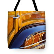 1947 Mercury Woody Reflecting Into 1947 Ford Woody Tote Bag