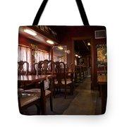 1947 Pullman Railroad Car Dining Room Tote Bag