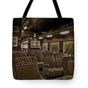 1947 Pullman Railroad Car Interior Seating Tote Bag