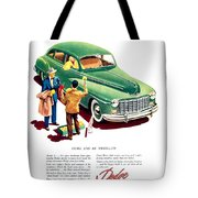 1948 - Dodge Automobile Advertisement - Color Tote Bag