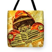 1948 Chevy Gold Acid Art Tote Bag