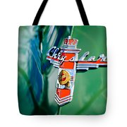 1948 Chrysler Town And Country Convertible Emblem -0974c Tote Bag