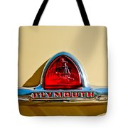 1948 Plymouth Deluxe Emblem Tote Bag