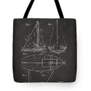 1948 Sailboat Patent Artwork - Gray Tote Bag