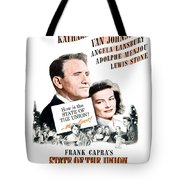 1948 - State Of The Union Motion Picture Poster - Spencer Tracy - Katherine Hepburn - Mgm - Color Tote Bag
