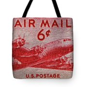 1949 Dc-4 Skymaster Air Mail Stamp Tote Bag