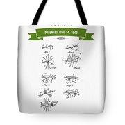 1949 Fish Lure Patent Drawing - Retro Green Tote Bag