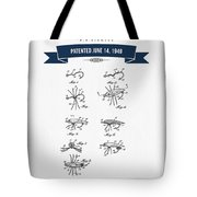 1949 Fish Lure Patent Drawing - Retro Navy Blue Tote Bag