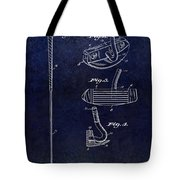 1949 Golf Putter Patent Drawing Blue Tote Bag