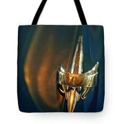 1949 Mercury Woody Wagon Hood Ornament Tote Bag
