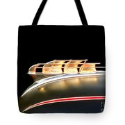 1949 Plymouth Schooner Hood Ornament Tote Bag by Renee Trenholm