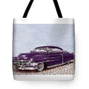 Chopped 1950 Cadillac Coupe De Ville Tote Bag