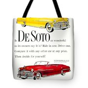 1950 - De Soto Sportsman Convertible - Advertisement - Color Tote Bag