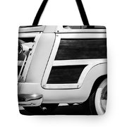 1950 Ford Custom Deluxe Station Wagon Rear End - Woodie Tote Bag by Jill Reger