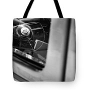 1950 Ford Custom Deluxe Woodie Station Wagon Steering Wheel Emblem Tote Bag
