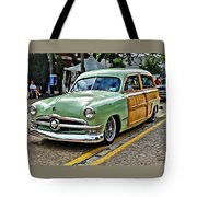 1950 Ford Deluxe Woody Station Wagon Tote Bag