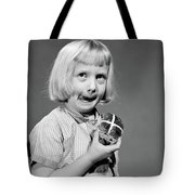 1950s 1960s Blonde Girl Licking Tote Bag