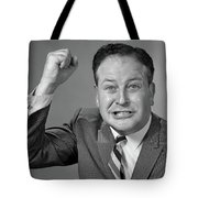 1950s 1960s Portrait Of Angry Man Tote Bag
