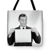 1950s 1960s Smiling Man Funny Facial Tote Bag